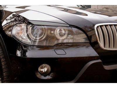 Реснички на передние фары BMW X5 2007-