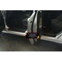 Накладки на пороги дверей KIA Cerato (седан)