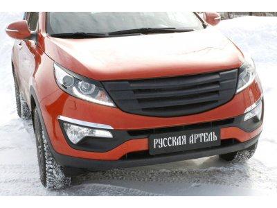 Решётка радиатора (сетка металлик) №3 Sportage III 2014-