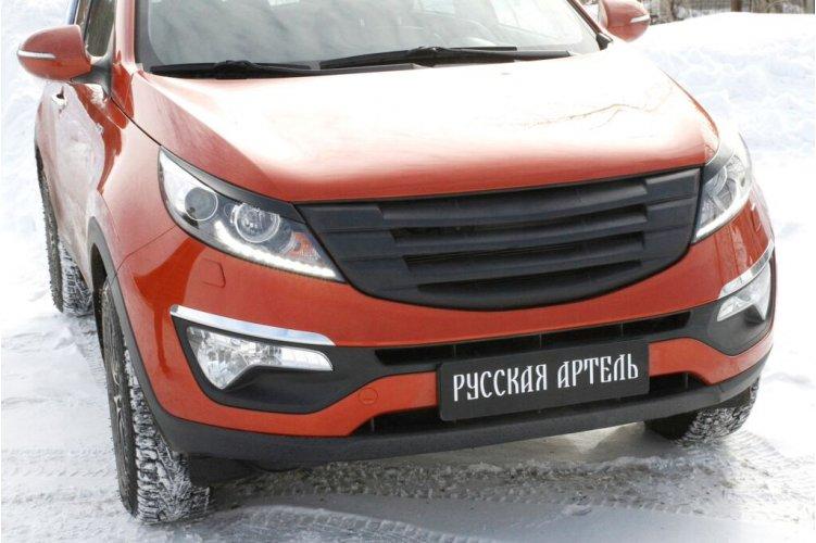 Решётка радиатора (черная сетка) №3 Sportage 2010-