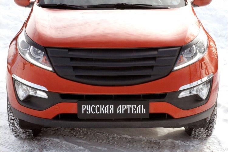 Решётка радиатора (сетка металлик) №3 KIA Sportage 2010-
