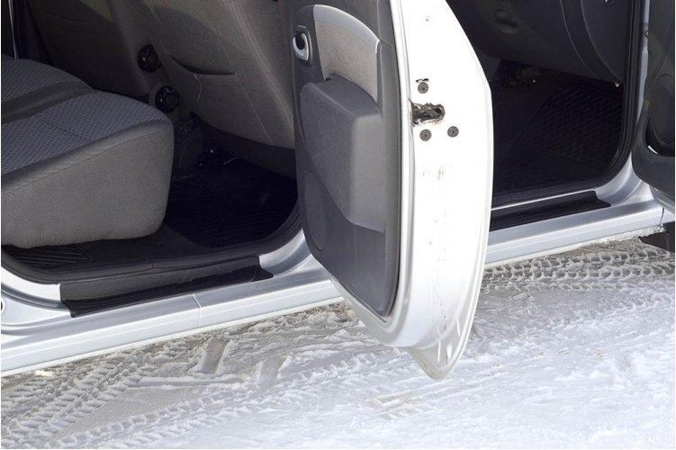 Комплект накладок на пороги Lada Largus 2012-