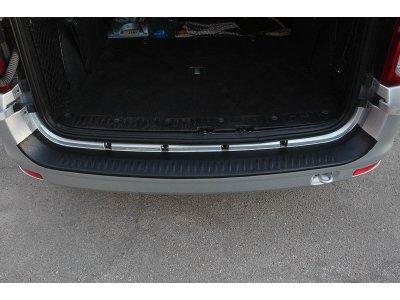 Защитная накладка на бампер Lada Largus 2012-