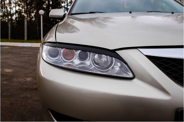 Накладки на передние фары Mazda 6 I