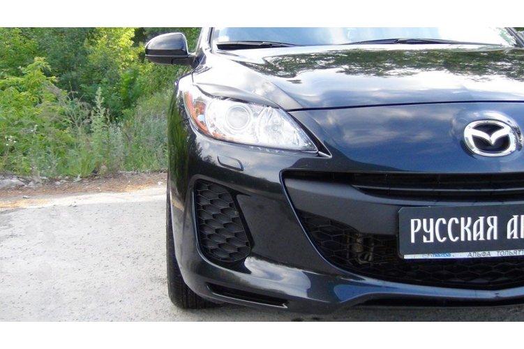 Реснички на фары Mazda 3 седан 2010-