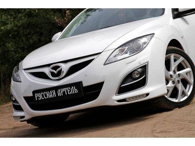Реснички на передние фары Mazda 6 2007-