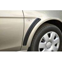 Накладки на крылья (с сеткой) Mitsubishi Lancer X 2007-