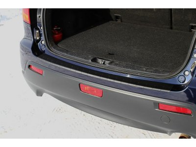 Накладка на бампер (задний) Mitsubishi ASX 2010-