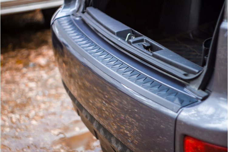 Защитная накладка на бампер Mitsubishi Outlander 2007-