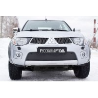 Зимняя заглушка бампера Mitsubishi Pajero Sport 2008-