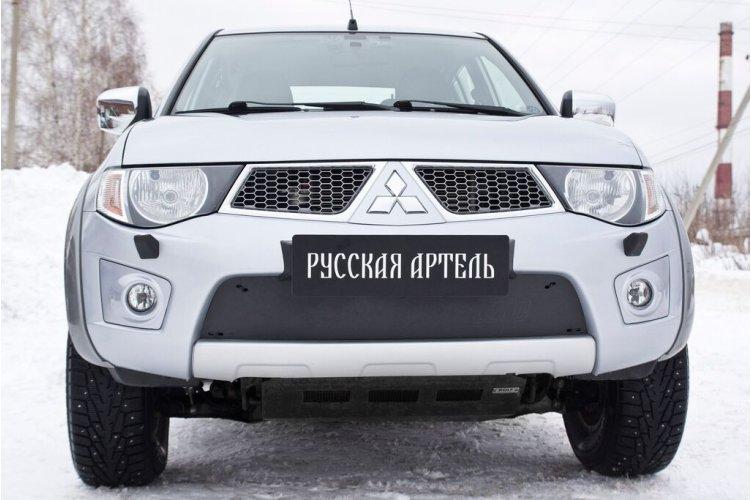 Зимняя заглушка бампера Митсубиси Л200 2010-2013