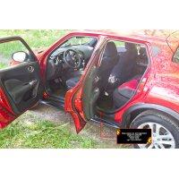 Накладки на пороги авто Nissan Juke 2010-2014