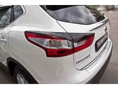 Накладки на фонари (задние) Nissan Qashqai 2014-
