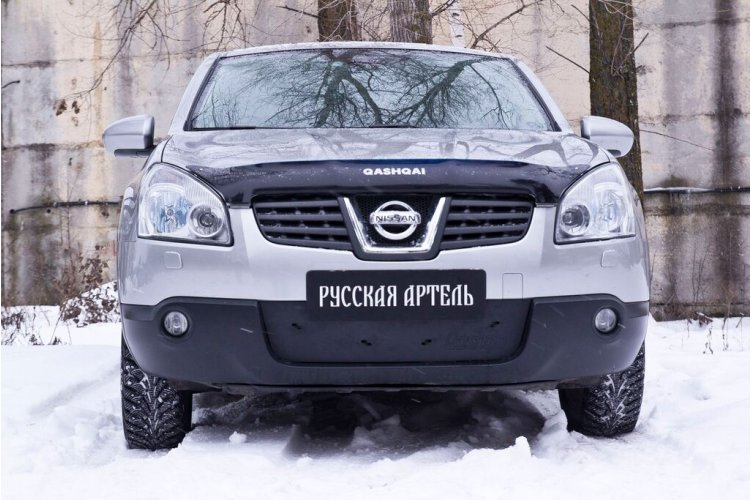 Зимняя заглушка на бампер Nissan Qashqai 2006-