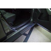 Накладки на пороги дверей Nissan Terrano 2014-