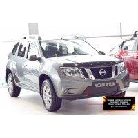 Зимняя заглушка на бампер Nissan Terrano 2014