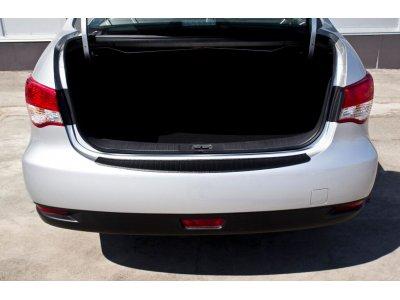 Защитная накладка на бампер Nissan Almera 2014-