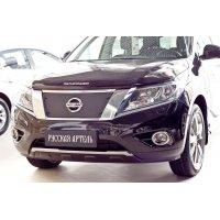 Зимняя заглушка бампера Nissan Pathfinder 2014-