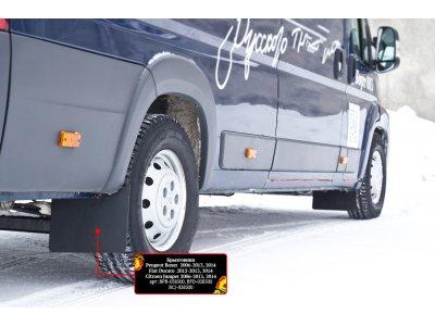 Брызговики (комплект 4 шт) Peugeot Boxer 2006-