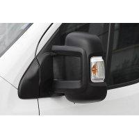 Накладки на боковые зеркала (АБС-пластик-2мм, комплект-2шт) Citroen Джампер 2006-2013