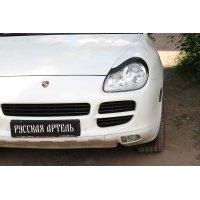 Накладки на передние фары Porsche Cayenne 2002-