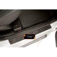 Накладки на ковролин порогов Renault Duster 2010-