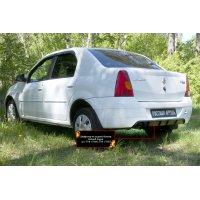 Диффузор заднего бампера (шагрень) Renault Logan 2004-2010