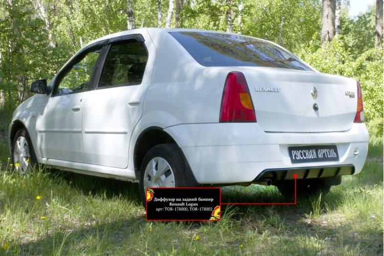 Диффузор заднего бампера (глянец) Renault Logan 2004-2010