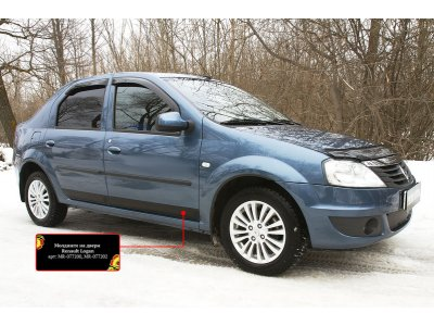 Молдинги (накладки) на двери Renault Logan