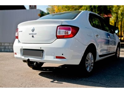 Накладки на задние фонари Renault Logan 2018-