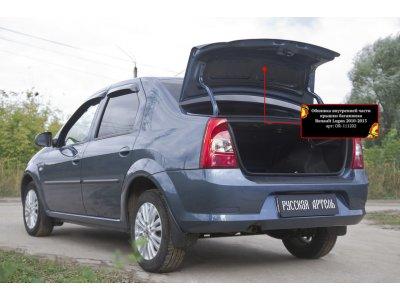 Обшивка внутренней части багажника Рено Логан 2010-