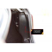 Обшивка задних фонарей в багажнике Renault Logan 2018-