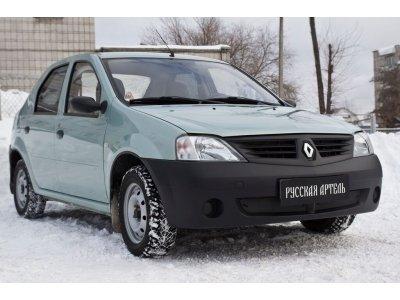 Зимняя заглушка бампера Renault Logan 2004-2010