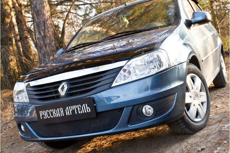 Зимняя заглушка бампера Renault Logan 2010-2013