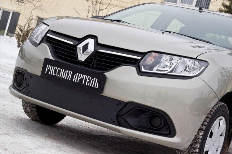 Зимняя заглушка решетки бампера Renault Logan 2014-
