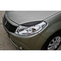 Накладки на передние фары Renault Sandero 2009-