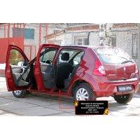 Накладки на пороги (4шт) дверей Renault Sandero