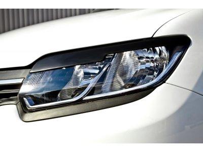 Реснички на передние фары Renault Logan 2014-