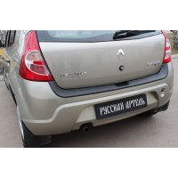 Защита на задний бампер Renault Sandero 2009-