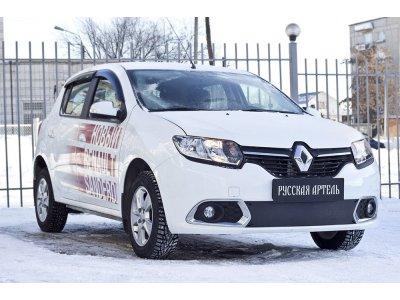 Заглушка бампера Сандеро зимняя (Renault Sandero 2014-)