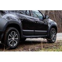 Расширители колесных арок + молдинги для дверей Renault Duster 2010-