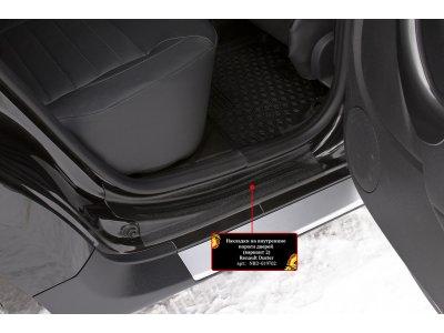Комплект накладок задних порогов Renault Duster 2015-