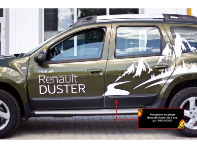Молдинги для дверей Renault Duster 2015-