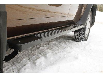Пороги металлические Вар.1 для Renault Duster 2010-