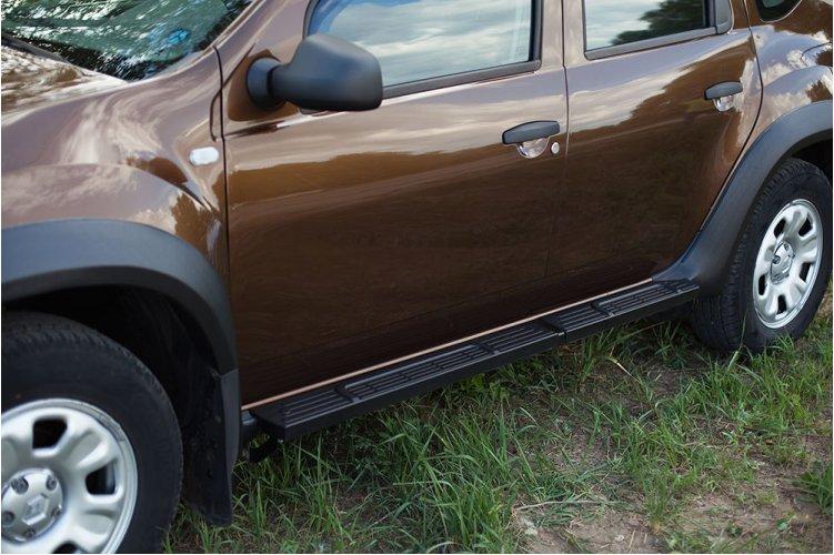 Пороги металлические Вар.2 для Nissan Terrano 2014-