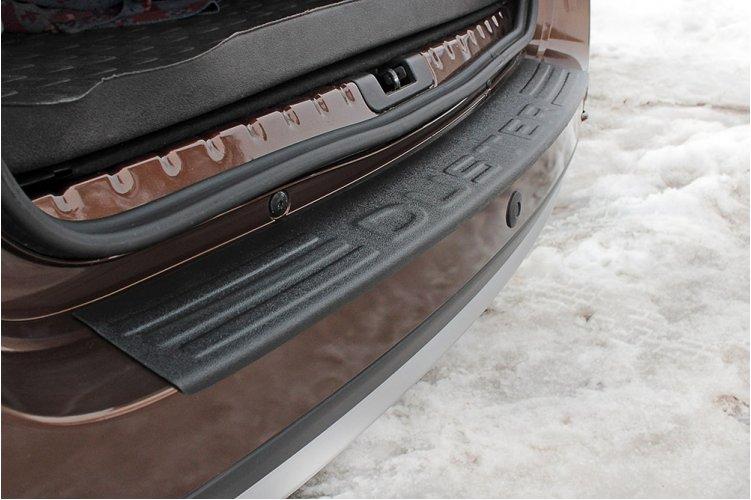 Защита на задний бампер (укороченная) Renault Duster 2010-