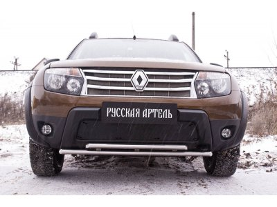 Зимняя заглушка (без дхо и обвеса) Renault Duster 2011-