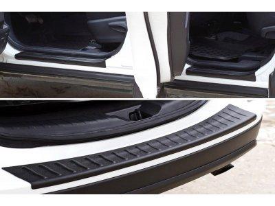 Защитный комплект (накладки на пороги и бампер) Toyota Rav4