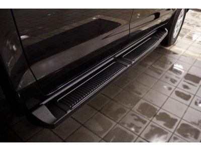 Пороги металлические для Toyota Hilux VII 2013-