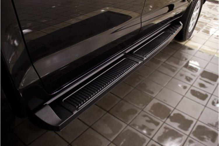 Пороги металлические на Toyota Hilux VII 2011-